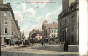 Fall River MA North Main Street c1910 Postcard #9