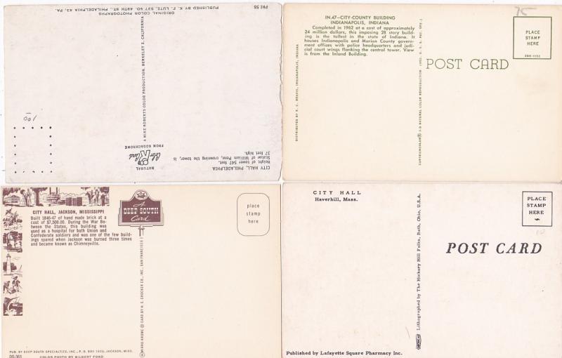 0073 Grabbag Auction 4 City Hall Postcards Starting At .99