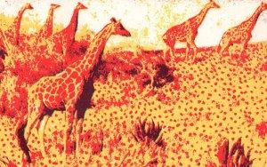 Hand Made African Craft Giraffe Limited Edition Postcard