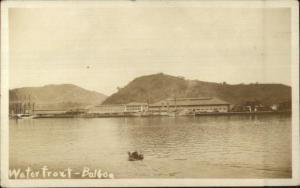 Balboa Panama Waterfront c1920 Real Photo Postcard