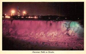 American falls in winter Niagara Falls Unused