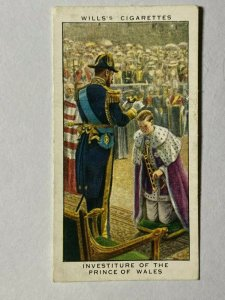 CIGARETTE CARD - WILLS REIGN GEORGE V #03 INVESTITURE PRINCE OF WALES (UU311)