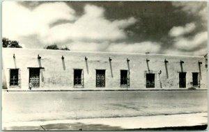 SAN ANTONIO, Texas RPPC Photo Postcard Spanish Governor's Palace / Street View