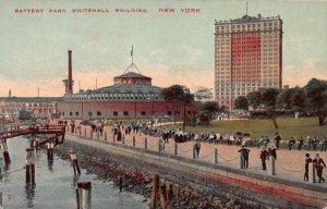 Battery Park, Whitehall Building, New York, N.Y.,  Early Postcard, Unused