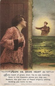 Lady rememberher soldier boyfriend  Bamforth Song Series PC # 5040/3