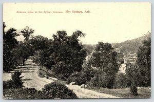 Hot Springs Arkansas~Mountain Drive on Hot Springs Mountain~1913 B&W Postcard