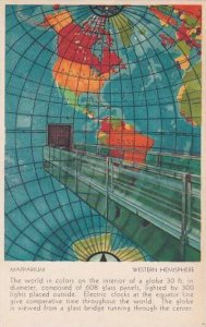 Massachusetts Boston Mapparium Western Hemisphere