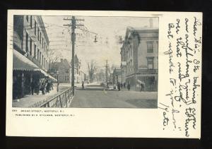 Westerly, Rhode Island/RI Postcard, Broad Street, Shopping Area, 1906!