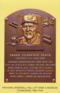 Urban Clarence Faber Baseball Hall Of Fame & Museum Cooperstown New York