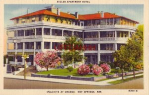 SIGLER APARTMENT HOTEL, HOT SPRINGS, AR.