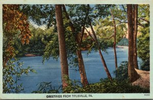 Pennsylvania Greetings From Titusville 1949