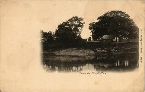 CPA AK INDOCHINA Poste de Nga-Ba-Tha VIETNAM (957164)