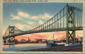 Ohio Toledo High Level Bridge Across Maumee River