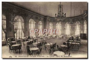 Old Postcard Deauville La Plage Fleurie Casino Dining Restaurant
