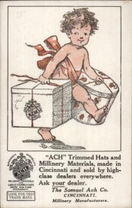 ACH Hats & Millinery Materials Cincinnati OH c1910 Postcard