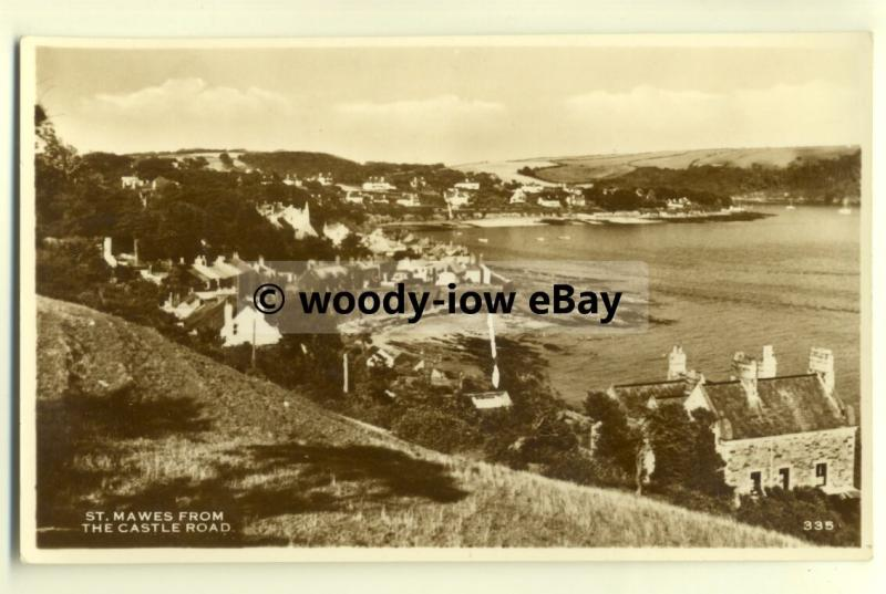 tp8201 - Cornwall - View of St. Mawes and Shore, from the Castle Road - Postcard