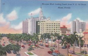 Florida Miami Biscayne Boulevard Looking South From Northeast 5th Street