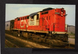 Canadian National Railroad Train Locomotive 3152 Tempo Color Postcard PC