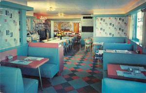 Angola New York Block Motel Dining Room Jukebox Postcard JD933940