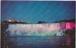 US Niagara Falls, New York.  Illuminated at night. Very nice.