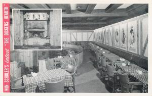 MARSHALL,, MI Michigan   DICKENS HEARTH  Restaurant  c1940s  Roadside Postcard