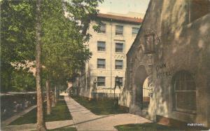 1920s Denver Colorado Olin Hotel roadside hand colored Albertype postcard 7910