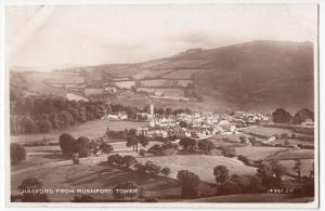 Devon; Chagford From Rushford Tower RP PPC, Unposted, By Valentines, c 1930's