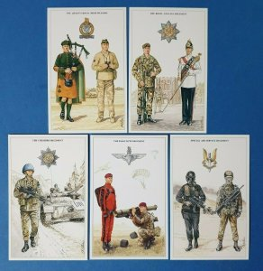 The British Army, other Regiments Postcards Set of 5 by Geoff White Ltd