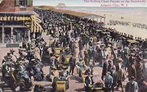 New Jersey Atlantic City The Rolling Chair Parade On The Boardwalk 1912