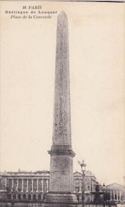PARIS Obelisque de Louqsor, Place de la Concorde, France, 00-10s