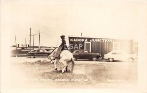 B1/ Kadoka Junction South Dakota SD Postcard Real Photo RPPC Bronco Cowboy 30s