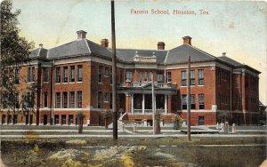 G22/ Houston Texas Postcard c1910 Fannin School Building