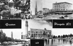 Netherlands Groeten uit Hengelo, Pr. Bernhardplantsoen, Lambertuskerk, Zwembad