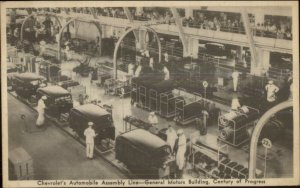 Chevy Chevrolet Auto Assembly Line GM Bldg Chicago World's Fair 1933 PC