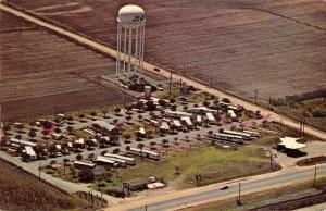 San Benito Texas air view Tropical Trail Moble Home Park vintage pc ZA440611