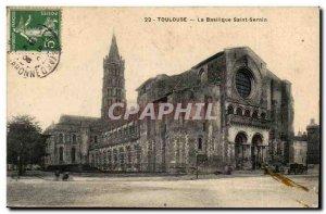 Toulouse - Saint Sernin Basilica - Old Postcard