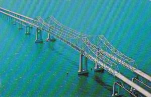 Florida St Petersburg Main Span Of Sunshine Skyway Bridge