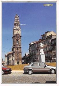Portugal Porto Clerigos Tower Ex-libris ville de Oporto, auto, cars