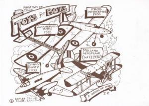 Meccano Aeroplane Toys For Boys First Day Of Issue Souvenir Postcard