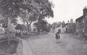 Kings Abbots Langley Hertfordshire Lych Gate Village Green Rare Museum Postcard