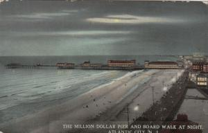 ATLANTIC CITY , New Jersey , 1900-10s ; Million Dollar Pier & Boardwalk at Nigh