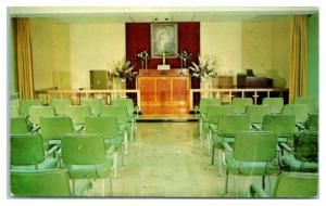 1960s Chapel, Lutheran Home for Aged & Infirm, Clinton, NY Postcard