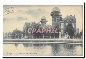 Liege Old Postcard L & # 39entree the park Cointe