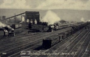 Erie Railroad, Port Jervis, NY, USA Railroad Train Depot writing on back writ...