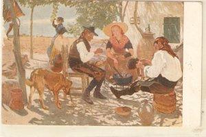 CVazqued. Blessint the meal. Bendicion de la col Nice Spanish vintage postcard