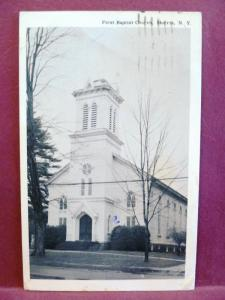 Postcard NY Morris First Baptist Church