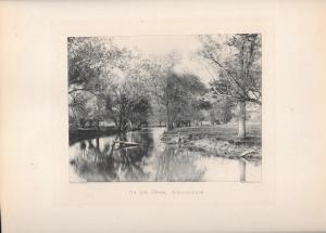 1896 On The Upper Wissahickon Philadelphia PA Photograph Photogravure Print