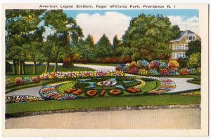 American Legion Emblem, Roger Williams Park, Providence RI