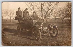 Nebraska Men~Vintage Car Homemade License Plate NEB 21353~Automobile c1910 RPPC