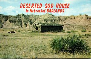 Nebraska Badlands Deserted Sod House